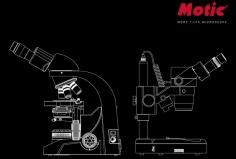 Nákres mikroskopu Motic