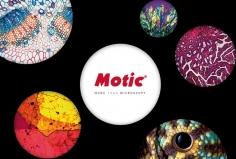 Mikroskopické preparáty v mikroskopu Motic